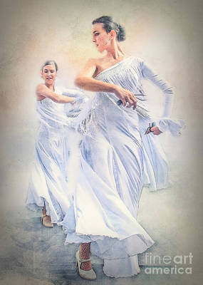 Photograph - Flamenco In White by Brian Tarr