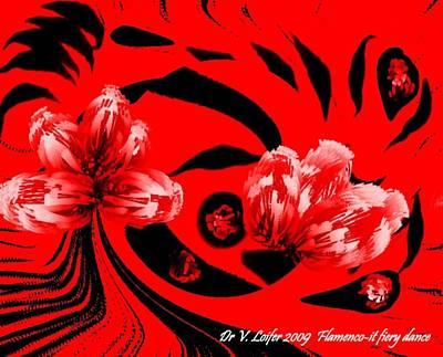 Flamenco-it Fiery Dance Art Print by Dr Loifer Vladimir