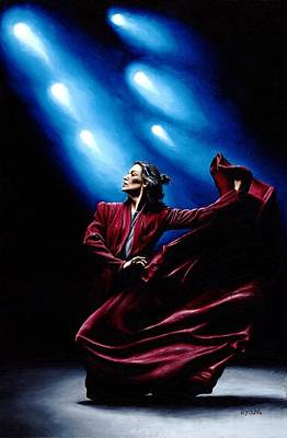 Used Painting - Flamenco Performance by Richard Young