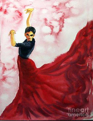 Painting - Flamenco Red by Asha Sudhaker Shenoy