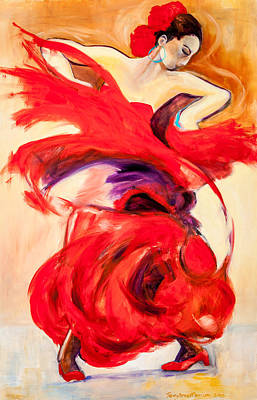 Painting - Flamenco Roco by Jenny anne Morrison