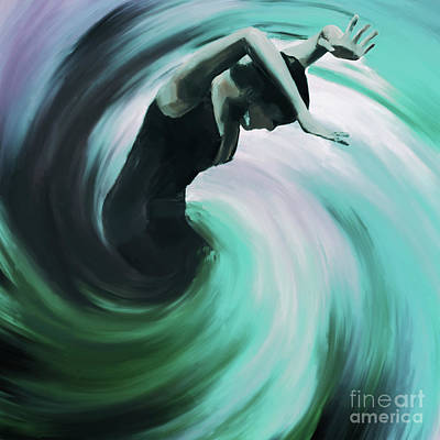 Ballerina Painting - Flamenco Twist 34l by Gull G
