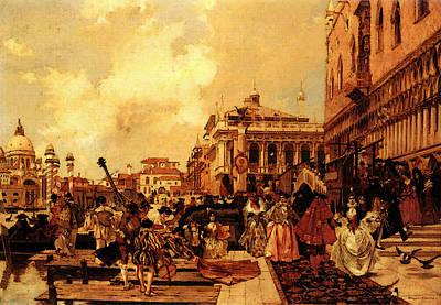 Flameng Francois Le Carneval A Venise Art Print