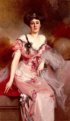 Flameng Francois Portrait De Mme D Art Print