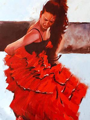 Figurativ Painting - Flamenko #24 by Igor Shulman