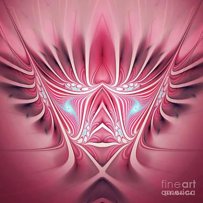 Art Print featuring the digital art Flames In My Heart by Jutta Maria Pusl