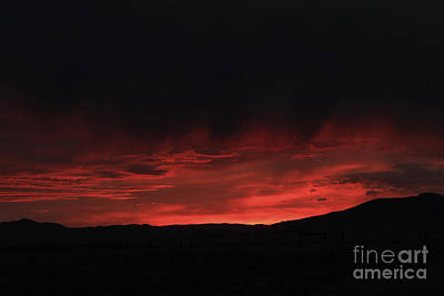 Sunrise Photograph - Flames In The Sky by Carolyn Brown
