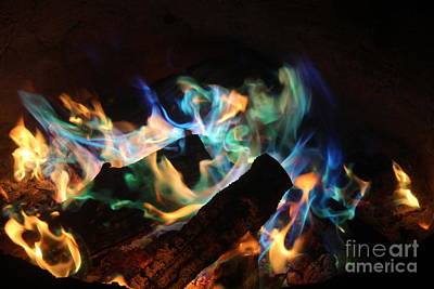 Photograph - Flames by Jenny Revitz Soper