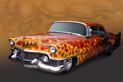 Photograph - Flames N Skulls by Bill Dutting
