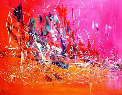 Indian Contemporary Artist Painting - Flames Of Love by Piety Dsilva