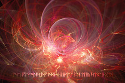 Digital Art - Flames Of Odin by Michal Dunaj