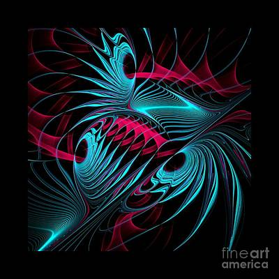 Abstract Digital Art - Flames On Black -d- by Issabild -