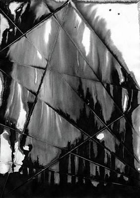 Painting - Flames Through Cracked Windows by Hakon Soreide