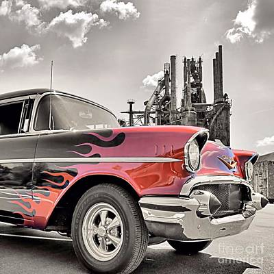 Photograph - Flamin' 57 by DJ Florek