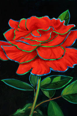Painting - Flaminco Rose by Billie Colson