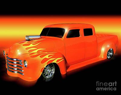Flaming 48 Art Print