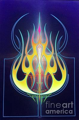 Painting - Flaming Bass Note by Alan Johnson