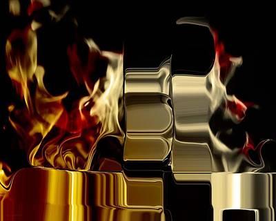 Photograph - Flaming Bolt by Steve Godleski