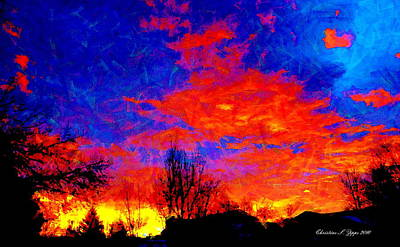 Photograph - Flaming Colorado Sunrise by Christine S Zipps