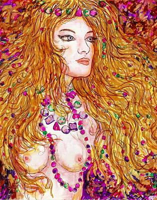 Flaming Desire Art Print