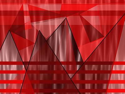 Shades Of Red Digital Art - Flaming Elevation by Kathleen Sartoris
