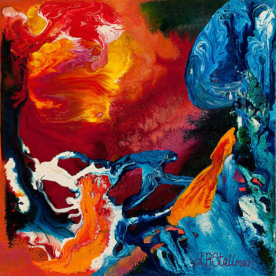Painting - Flaming Flow by Laurie Stallman