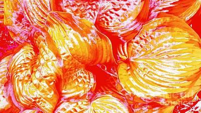 Digital Art - Flaming Hosta by Rachel Hannah