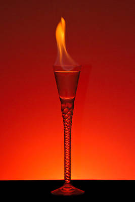Martini Rights Managed Images - Flaming Hot Royalty-Free Image by Gert Lavsen