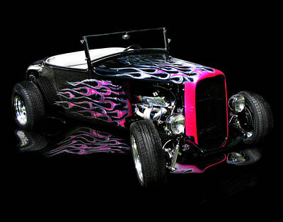Photograph - Flaming Hot Roadster  by Peter Piatt