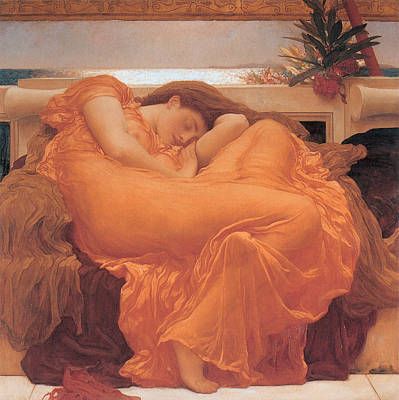 Oleanders Painting - Flaming June - 1895 by Lord Frederic Leighton