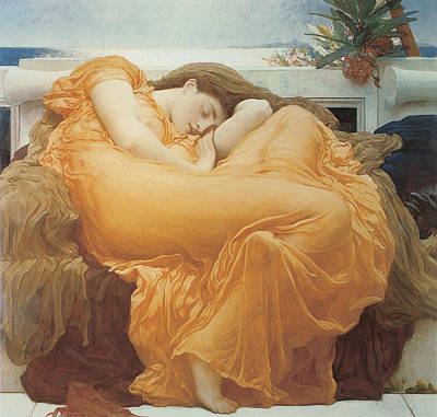 Flaming June Painting - Flaming June By Leighton by Lord Frederic Leighton