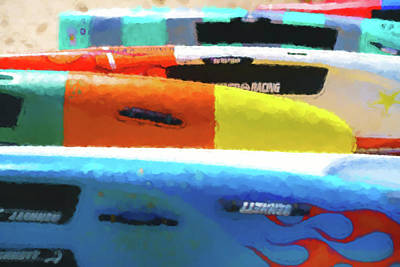 Digital Art - Flaming Kayak Watercolor 2 by Scott Campbell