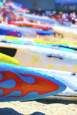 Digital Art - Flaming Kayak Watercolor 3 by Scott Campbell