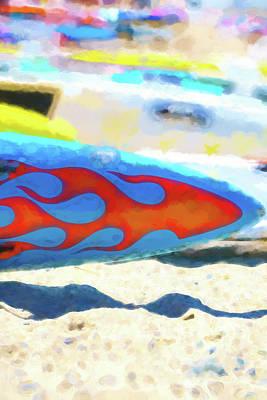 Digital Art - Flaming Kayak Watercolor 4   by Scott Campbell