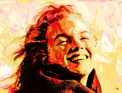 Actrice Painting - Flaming Marilyn by Lawrence O'Toole