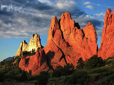 Photograph - Flaming Red Rocks by Alan Socolik