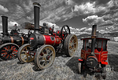 Steam Photograph - Flaming Red by Nichola Denny