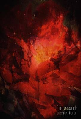 Photograph - Flaming Rose Abstract by Maria Urso