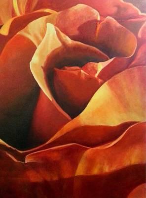 Flaming Rose Art Print