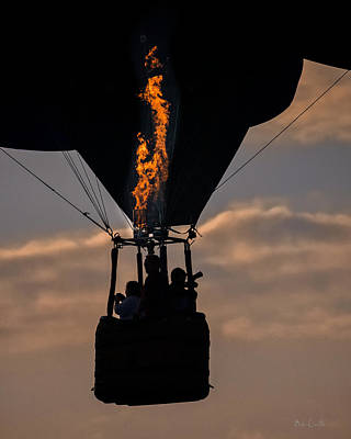 Photograph - Flaming Silhouette  by Bob Orsillo