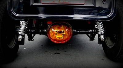 Photograph - Flaming Skull Diff by Guy Pettingell