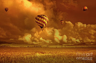 Art Print featuring the photograph Flaming Sky by Charuhas Images