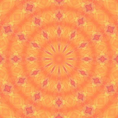 Art Print featuring the digital art Flaming Sun by Elizabeth Lock