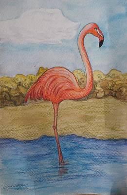 Painting - Flamingo #2 by Patricia Voelz