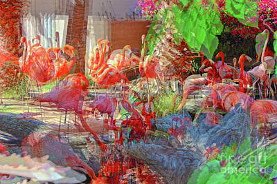 Photograph - Flamingo Abstract by Natalie Ortiz