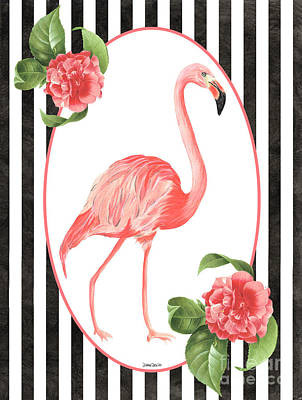 Art Print featuring the painting Flamingo Amore 6 by Debbie DeWitt