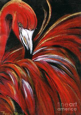 Bling Mixed Media - Flamingo Bling by Regina Bruns
