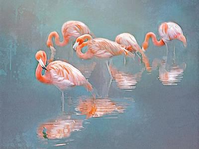 Photograph - Flamingo Blues by Brian Tarr
