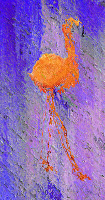 Outdoors Painting - Flamingo Blurred by Ken Figurski