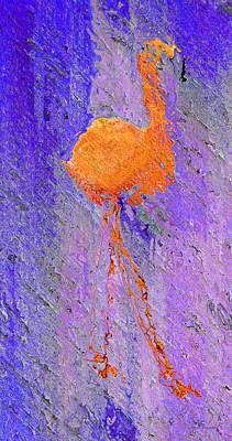 Sailing Digital Art - Flamingo Blurred by Ken Figurski